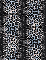JAMMORY 3D Wallpaper Retro Wall Covering,Canvas Simple Abstract Leopard