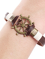 Punk Rudder Steering Wheel Leather Rope Leather Bracelet