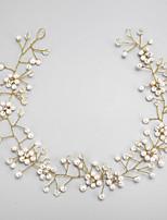 結婚式 / パーティー 成人用 / フラワーガール ラインストーン / 合金 / 人造真珠 かぶと ヘッドバンド 1個