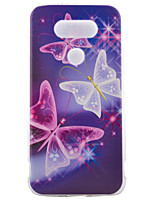 For LG Case Case Cover Pattern Back Cover Case Butterfly Soft TPU for LG