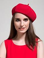 Women British Retro Autumn And Winter Woolen Octagonal Beret Pumpkin Hat
