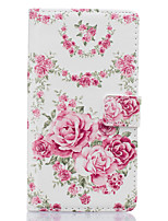 For Huawei Case / P9 / P9 Lite Wallet / Card Holder / with Stand Case Full Body Case Flower Hard PU Leather HuaweiHuawei P9 / Huawei P9