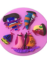 Pirate Ships /Sailing Vessel Type Candy Fondant Cake Molds  For The Kitchen Baking Molds