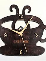 Creative Tableware Drink Cup Type Wall Clock