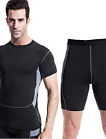 Running Clothing Sets/Suits Men's Quick Dry / Sweat-wicking Running Sports Sports Wear White / Green / Red / Gray / Black / BlueM / L /