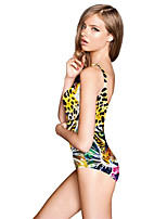 FuLang swim One-Piece Suits   Paige  Thin   sexy backless   Leopard Print  SC094