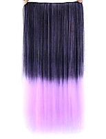 straight-de-rosa colorido do cabelo humano perucas 1t2403a