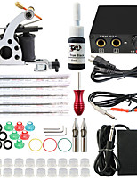 professionele en complete 2 pistool tattoo machine kit 1pcs inkt voeding naald grips tips