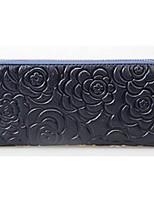 Damen-Gewerbliche Verwendungen-Brieftasche-Kuhfell-Blau / Braun / Rot / Schwarz / Fuchsie