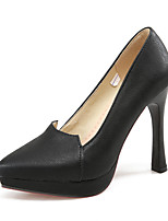 Women's Shoes PU / Fleece Stiletto Heel Heels/Comfort/Pointed Toe Heels Office & Career /Casual Black/Gray/Beige