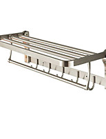 Double layer stainless steel wire drawing stainless steel folding towel rack