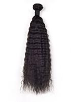 6a Malásia cabelo humano Kinky 1pcs tecer retas / lot Malásia cabelo virgem reta cabelo crespo tece venda 12-26inch.