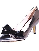 Women's Shoes Cowhide Stiletto Heel Heels / Pointed Toe Heels Wedding / Party & Evening / Dress Black / Gold / Peach