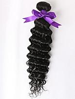 brasilianisches tiefes lockiges unverarbeitetes Menschenhaar Jungfrau weben brasilianisches Haar reines Haar 1 PC brasilianischen tiefen