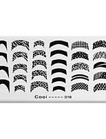 bluezoo retângulo arte impressão prego stamping (c-016)
