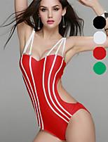 Venus queen Women's Halter Bikini / One-piece,Solid Nylon / Spandex White / Green / Red / Black