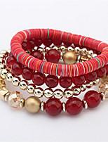 Bracelet Chaîne Alliage / Acrylique Perle imitée Femme