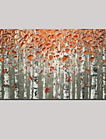 Hand-painted European Style Oil Paintings Golden Autumn Landscape Wall Art with Stretched Framed