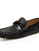 Men's Shoes Outdoor / Office & Career / Party & Evening / Casual Leather Loafers Black / Blue / Taupe