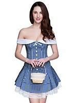 Feminino Sem Busto / Com Busto / Vestido com Corset / Conjunto com Corset / Tamanhos Grandes Zíper Poliéster / Algodão / Náilon Feminino