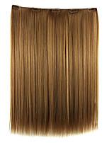 peruca 52 centímetros de alta temperatura comprimento do fio marrom cabelo liso extensão de cabelo sintético dourado