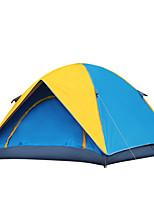 Tenda-Impermeabile / Traspirabilità / Anti-pioggia / Anti-polvere / Anti-vento / Ben ventilato / Tenere al caldo-2 persone-Giallo /
