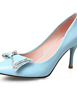 Women's Shoes Leatherette Chunky Heel Heels Heels Office & Career / Dress / Casual Blue / Pink / Beige