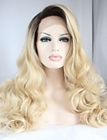 Fashion Synthetic Front Lace Wigs Bleach Blonde color