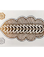 Lovely Waterproof Metal Small Gold Face Sticker W223