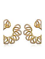 Top Quality Cubic Zircon Setting Women Wedding Earrings Deluxe Stud Earrings Allergy Free Low Cadmium No Lead Brass
