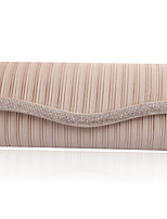 Women-Formal / Event/Party / Wedding-Satin-Clutch-White / Purple / Gold / Red / Black / Almond