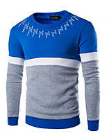 Sets Activewear Uomo Casual Con stampe / Collage Manica lunga Cotone / Poliestere