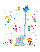 Wall Stickers Wall Decals Style The Elephant Water Spray Measure Your Height PVC Wall Stickers