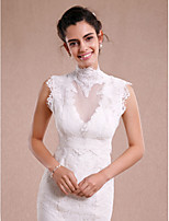 Women's Wrap Shrugs Sleeveless Lace Ivory Wedding / Party/Evening High Neck Lace
