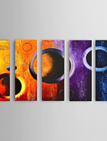 Handpainted Abstract Oil Paintings Office Decor 5 Piece/Set with Stretched Frame Ready To Hang