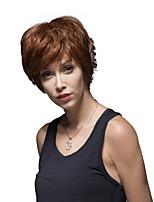 pelucheux vague naturelle tendance à court cheveux remy les mains liées -top la perruque de femme