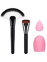 The Fan Makeup Brush Foundation Brush Small Makeup Puff And Cleaning Egg