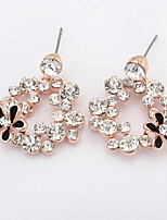 Fashion Brand Jewelry Bohemian Rhinestone Flower Ear Stud Earrings For Women Summer Style Crystal Earrings