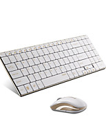 Original Rapoo 9160 2.4G 5.6mm Ultra-Slim Wireless Keyboard and Mouse Combo Gold