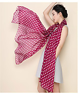 Women High-grade Polka Dot Printed Chiffon Beach Towel Fashion Shawls