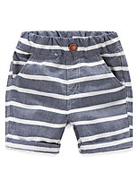 Children's Summer Shorts Cotton Underwear Shorts Boy And Girls Stripes Short Pants