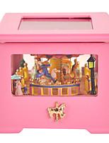 bois jaune multicolore créatif boîte à musique / romantique pour le cadeau