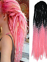 20inch Kanekalon Senegalese Braids Soft Dread Lock Synthetic Braiding Hair Black Ombre Pink with Crochet Hook