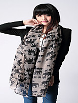 Indian Wind Elephant Animal Print Cotton Scarves