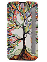 For LG Case with Stand / with Windows / Flip / Pattern Case Full Body Case Tree Hard PU Leather LG