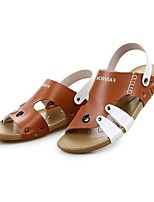 Zapatos de Hombre-Sandalias-Exterior / Oficina y Trabajo / Deporte / Vestido / Casual-Cuero de Napa-Azul / Marrón