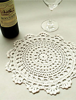 2pcs/set 50cm Round Retro Crochet Cotton Table Runner Garden Theme Coffee Table Hollow Out Cloth Wedding Decor