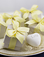 1oz Heart Soap Wedding Favors with Gold Ribbon