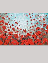 décor moderne épaisse fleur rouge papillon peinture à l'huile art mur de bureau à domicile peint à la main avec cadre tendu