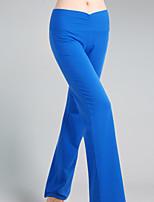מכנסיים יוגה מכנסיים נושם / תומך זיעה טבעי מתיחה בגדי ספורט שחור / כחול לנשים אחרים יוגה / כושר גופני / ספורט פנאי